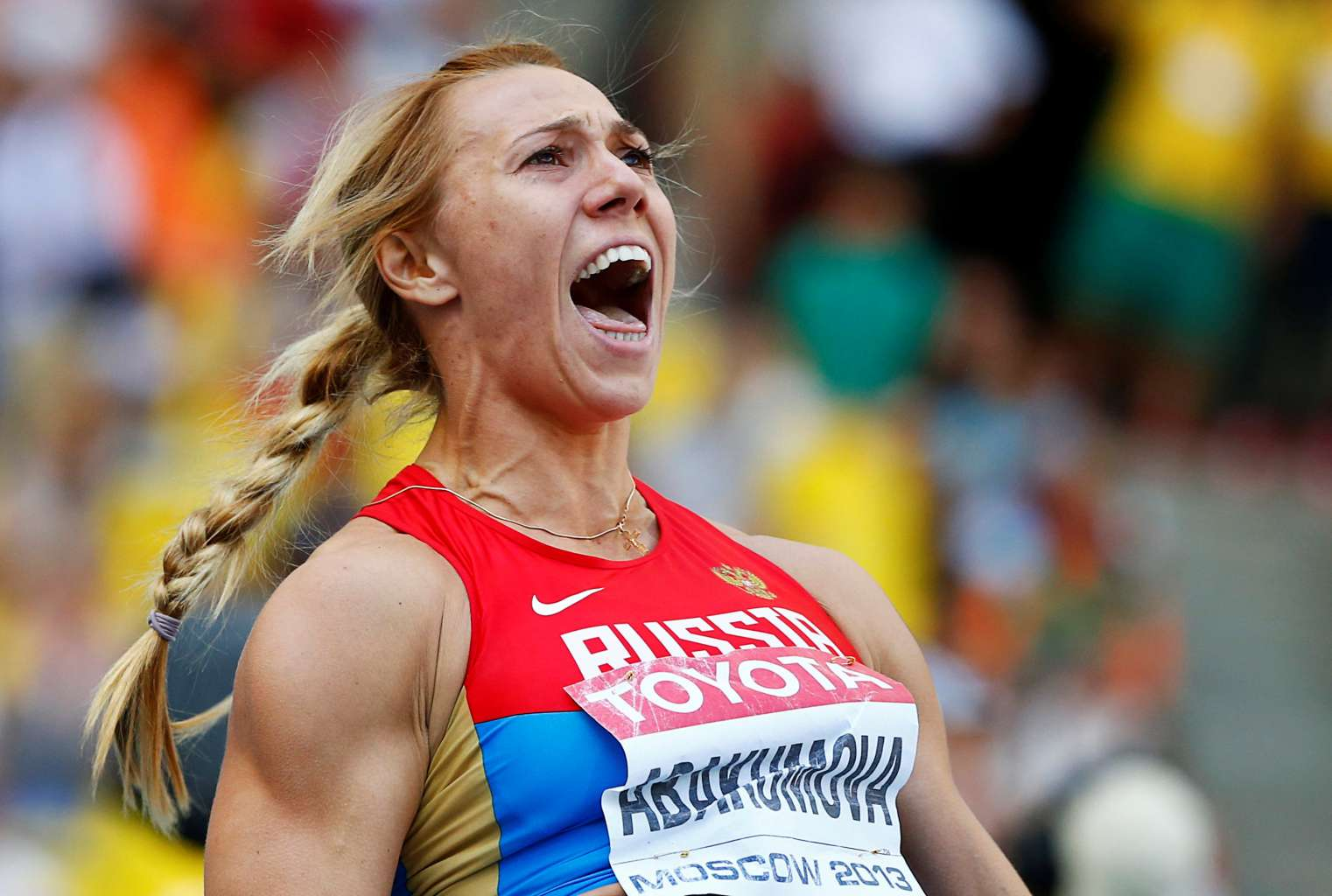 Maria Abakumova has been stripped of worlds title 2011 for doping